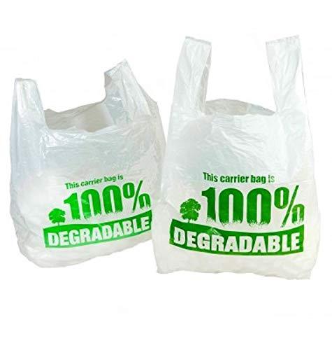 Sabco - Bolsas de chaleco blanco 100% degradables - Grande 11 x 17 ...