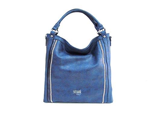 Borsa donna Coveri Collection mod.sacca a spalla 172229-2 blu
