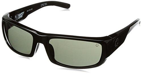 Spy Optic Caliber Shield Sunglasses, Black/Happy Gray/Green, 59 mm Diamond Eyewear Sunglasses