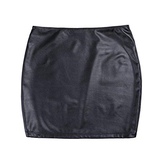 Taille Soire Jupe Club Quotidien M Clubwear Courte Faux Moulante Sexy Cuir Jupe Fte Skirt Jupe de XXXL iixpin Mini Femme BvqT7T