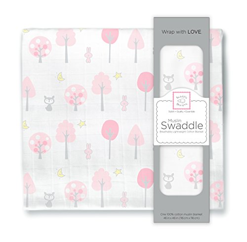 SwaddleDesigns Cotton Swaddle Blanket Thicket