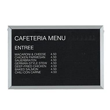 Aarco BOFD2436L Message Center Board, 36 W x 24 H, open face, black felt panel