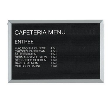 Aarco BOFD2436L Message Center Board, 36''W x 24''H, open face, black felt panel by Aarco Products Inc