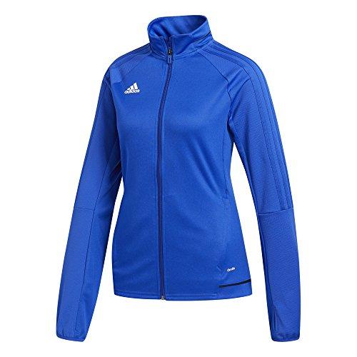 adidas Womens Tiro 17 Training Jacket Blue/White L
