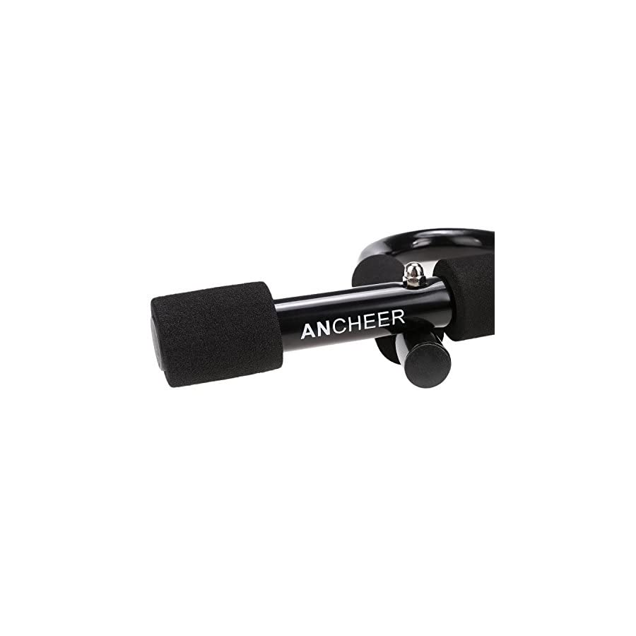 ANCHEER Pull Up Bar Doorway Pullup Bar / Chinup Bar with Length Adjustable (black)