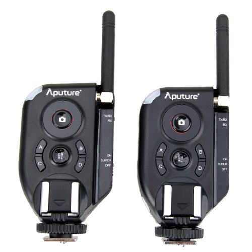 Aputure Trigmaster Plus II TXII Set Two 2.4GHz Wireless Signal Flash Trigger for Canon Nikon Pentax Olympus DSLR Camera - 6 Channels by Aputure