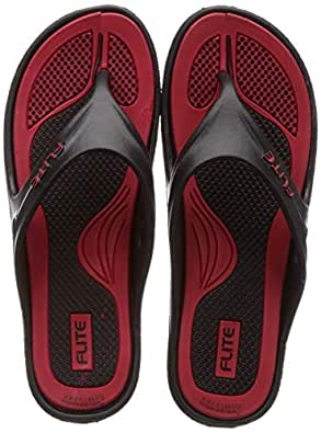FLITE Women's Black Red Slippers- 6 UK (39 1/3 EU) (FL0347L_BKRD0006)
