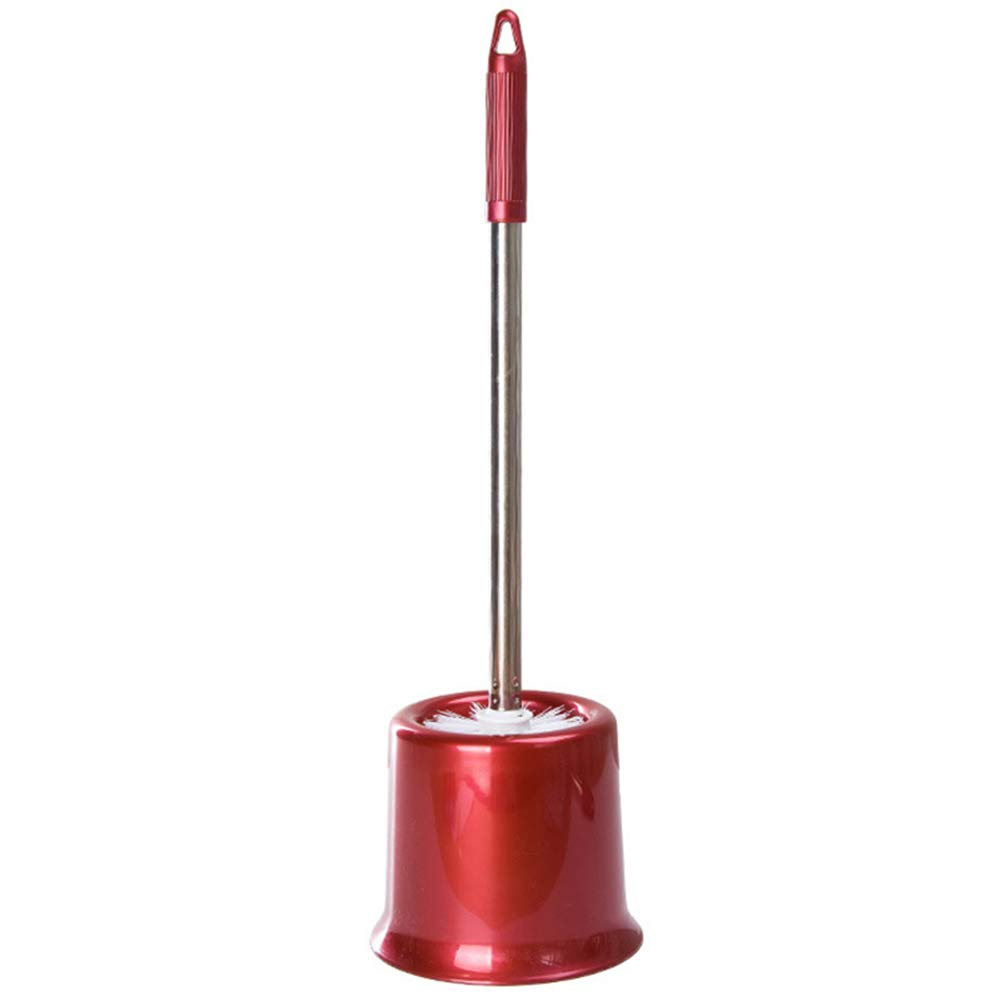 Alextry Pelo Suave Escobilla para Inodoro con Mango Largo Square Rojo sin Perforaciones