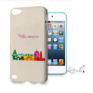 Phone Case For Apple iPod Touch 5 - Love Los Angeles Lightweight Wrap-Around by lolosakes