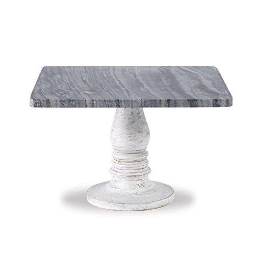 - White-Wash Marble Pedestal, 8