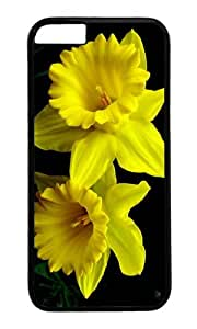 iPhone 6 Case,VUTTOO Stylish Yellow Daffodils Hard Case For Apple iPhone 6 (4.7 Inch) - PC Black