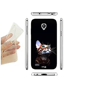 FUNDA CARCASA SLIM GATTO GUARDA LUCE PARA VODAFONE SMART PRIME 6 TPU