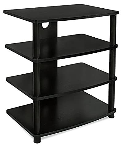 Mount-It! Media Stand Entertainment Center For TV, Audio Video Components, Stereo Equipment, Gaming Consoles, Streaming Devices, 4 Shelves, (Atlantic Game Central Tall)