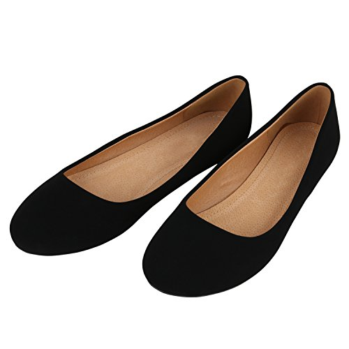 Nero Stiefelparadies Classiche Donna Ballerine Flandell 130891 42 wgqPfgI