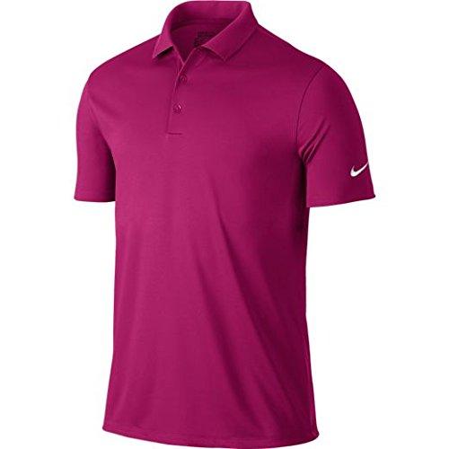 Nike 2017 Dri-Fit Victory Solid Logo Sleeve Polo Mens Funky Golf Polo Shirt Sport Fuchsia XL