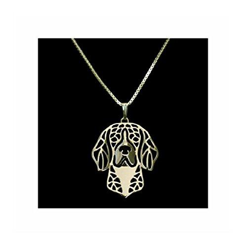 Beagle Necklace Gold-Tone