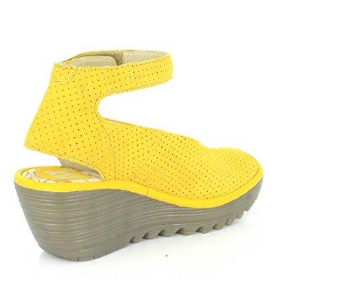 Fly London Mujeres Yaya Ankle-strap Pump Limón