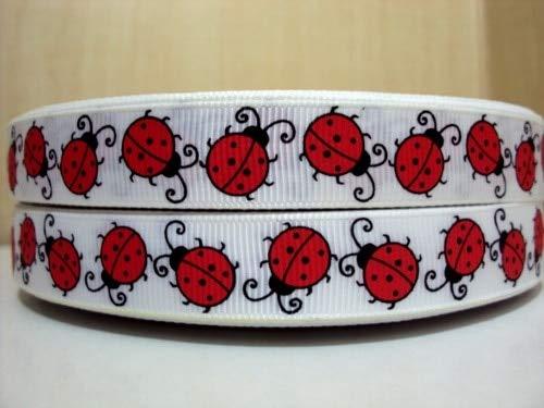 BeesClover (5yds per roll 5Y1624 David Ribbon 5/8 '' Ladybug Grosgrain Ribbon hairbows Printed Ribbon Tape Minimum Order USD 6.00 Show One Size