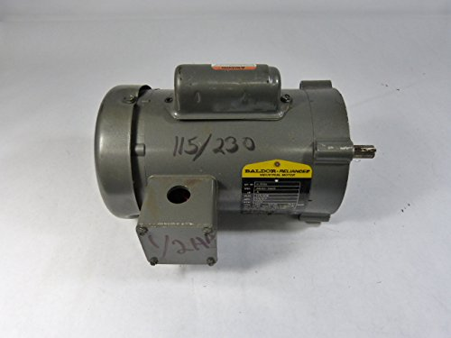 (Baldor VL3504 General Purpose AC Motor, Single Phase, 56C Frame, TEFC Enclosure, 1/2Hp Output, 1725rpm, 60Hz, 115/230V Voltage)