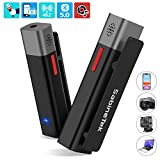 Wireless Microphone System, SmartMike+ Rechargeable Bluetooth Hands Free Clip-on Lavalier Lapel Mic for Canon, Nikon, Sony, Panasonic, DSLR Camera, GoPro, Phone, PC, Vlogging Youtube Recording