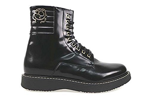 BRACCIALINI Stiefeletten Damen 37 Schwarz glänzendem Leder AN54-B