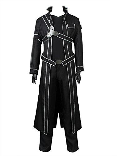 Cosfun Kirigaya Kazuto Cosplay Costume Full Outfit Black mp003071