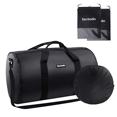 Foldable Lightweight Travel Duffle Bag, Kemladio Water Rresistant Packable Bag Luggage by Kemladio
