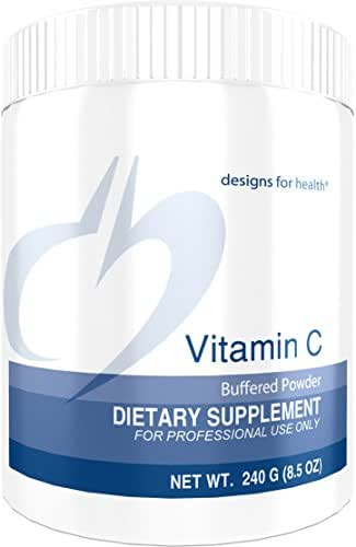 Designs for Health Buffered Vitamin C Powder 2000 Milligrams - High Dose Vitamin C with Alkalizing Minerals (80 Servings, 240 Grams)