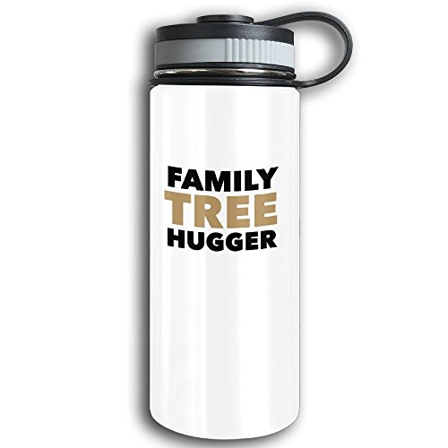 Treehugger Costume (Stainless Steel Sports Water Bottle, Double Wall Vacuum Insulated Family Tree Hugger Flask Bottle – Leak & Sweat Proof Flask - Cold/Hot Drinks For 12 Hours White)
