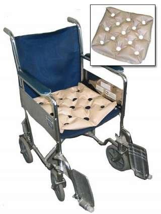 Waffle Wheelchair Cushion 19 X 19 - PRE-INFLATED