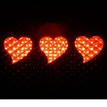 HEARTS - 3rd Third Brake Light Vinyl Decal Mask Kit #1103 | Vinyl Color: -