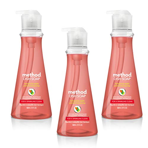 - Method Liquid Dish Soap 18 oz. Dispenser | 3 Pack | Naturally Derived Dish and Hand Soap (Honeycrisp Apple)