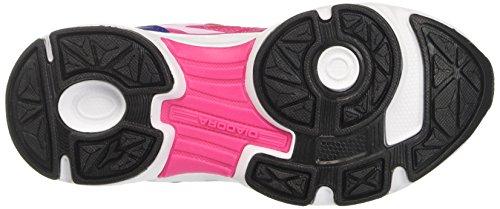 8 Rosa Jr rosa Running De Niños bianco Ottico Shocking Shape Para Zapatillas Diadora 1wq58Tz