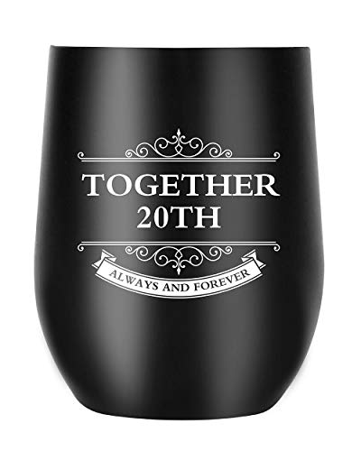 20th Anniversary Gifts for Men Women Wife Husband, Together Always and Forever, Personalized Gifts for Couple Parents (20th - Platinum Gift