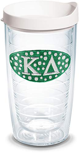 Tervis 1079247 Sorority - Kappa Delta Tumbler with Emblem and White Lid 16oz, Clear