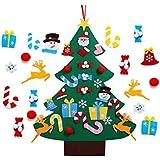 Kids DIY Felt Christmas Tree Set Wall Hanging Detachable Ornaments 26pcs Xmas Gifts Children Friendly Christmas Home Decorations 3.1FT