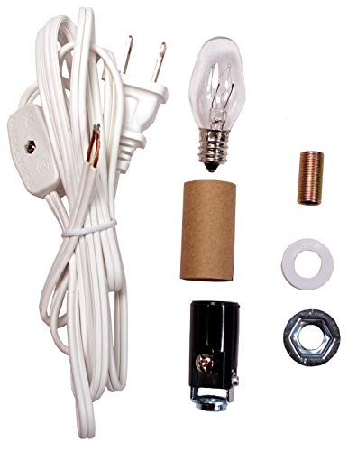 Creative Hobbies ML2-B6 Small Christmas Tree Wiring Kit, Great for Lighting Small - Kit Hardware Lamp