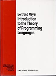 Introduction to the Theory of Programming Languages (Prentice-Hall International Series in Computer Science)
