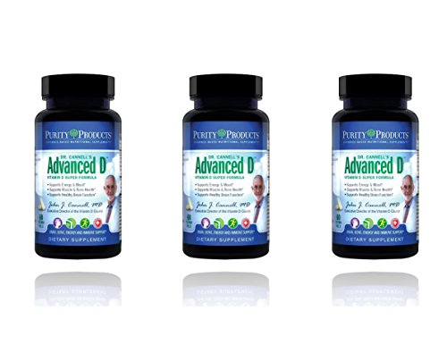 Dr. Cannell's Advanced D - Vitamin D Super Formula - Purity Products (3 PACK) by Purity Products