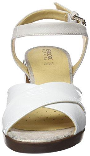 Geox Damen D Annya Metà Sandalo C Peeptoe Weiß (bianco)