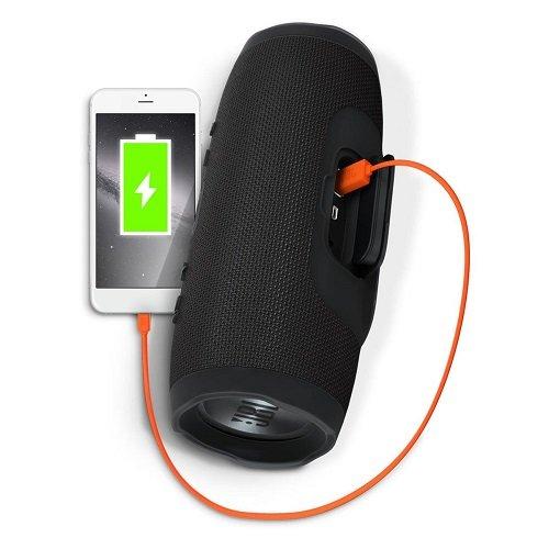 JBL Charge 3 Waterproof Portable Bluetooth Speaker (Black), 1 3