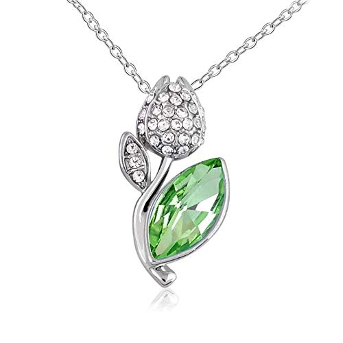 094d4e8aee546 swarovski fresh green colour necklace for women and girls gift