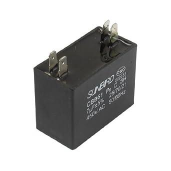 DealMux CBB61 450VAC 7uF 4 Terminal del acondicionador de aire del ...