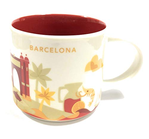 (Starbucks Barcelona YAH Mug - You are Here - Coffee Cup - Espana - Prawn - Shrimp - Las Ramblas - Sangria)