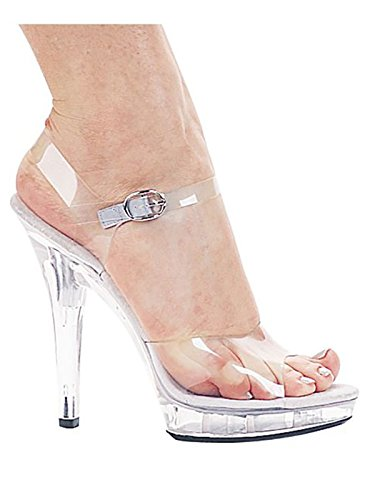 Ellie Shoes Women's M Brook Platform Sandal, Clear, 9 M US