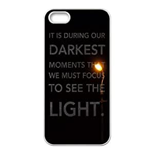 iPhone 5 5s Cell Phone Case White quotes parallax darkest moments focus to see light D4J5RL