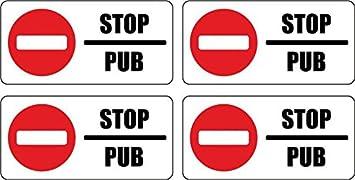 264c3680ca2f0 Set 4x autocollant sticker boite aux a lettre pas de pub stop interdit anti