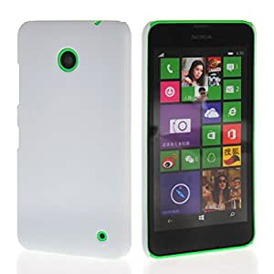 FirstTelecom Tapa Funda Carcasa Case Cover para Nokia Lumia 630 Blanco
