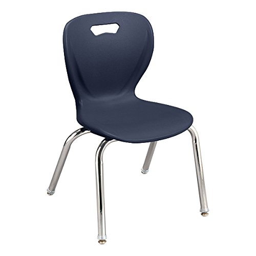 Learniture Shape Series School Chair,16'' Seat Height, Navy (Pack of 4) LNT-INM3016NV-SO by School Outfitters (Image #3)