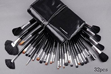 M.A.C 32-Piece Numbered Brush Set with Leather Case